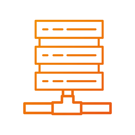 database center storage system connect tower vector illustration