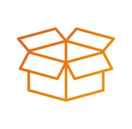 storage box empty information web icon vector illustration