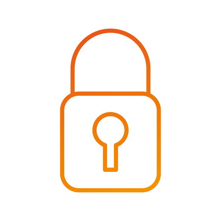 security lock access file information protection vector illustration Illustration