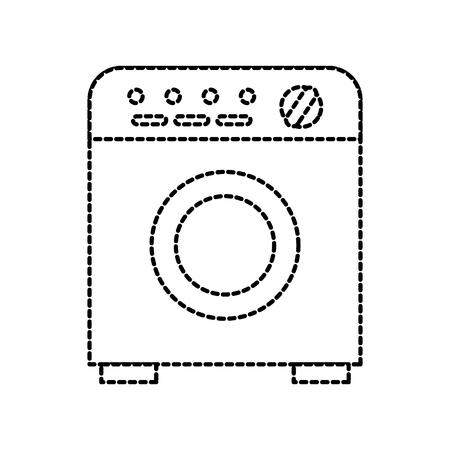 洗濯機ランドリー クリーン家電ベクトル図
