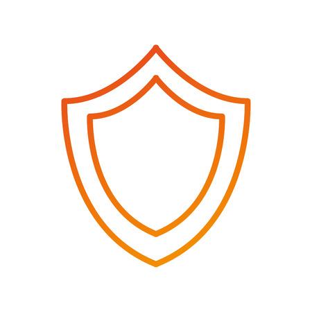 シールド保護システム セキュリティで保護された技術のシンボル ベクトル図