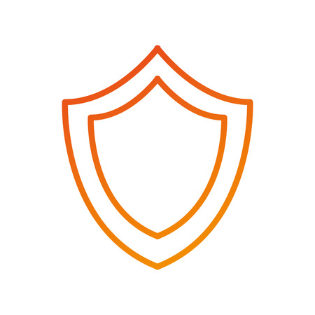 shield protection system secure technology symbol vector illustration 向量圖像