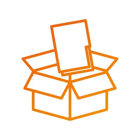 box with folder file storage secure information web vector illustration Illusztráció