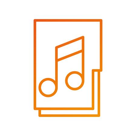 folder file music song archive system online digital vector illustration Ilustracja