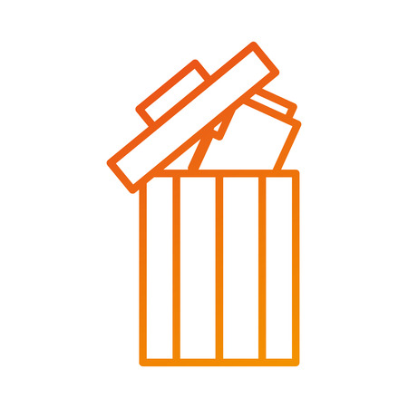 trash can folder file information delete web vector illustration