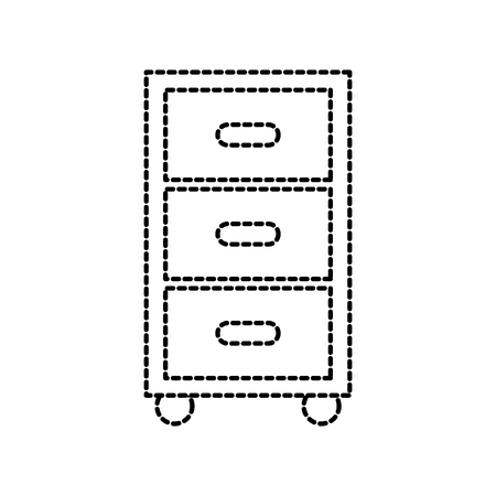 laundry cabinet with drawers equipment furniture vector illustration