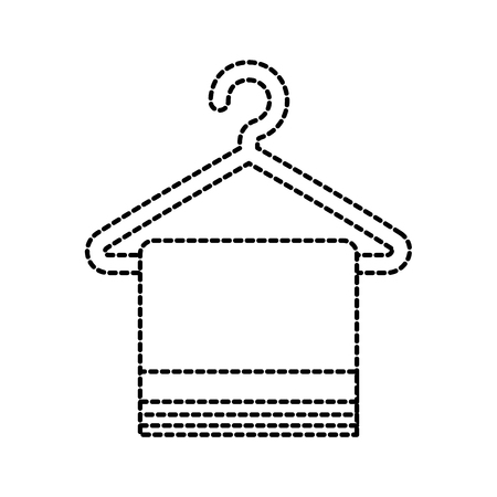 laundry cleaning towel hanging hygiene icon vector illustration