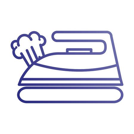 鉄蒸気ランドリー アプライアンス機器ベクトル図  イラスト・ベクター素材