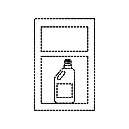 laundry drawer with detergent bottle vector illustration