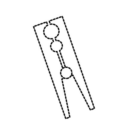 古典的な木製洗濯はさみランドリー アイコン ベクトル図