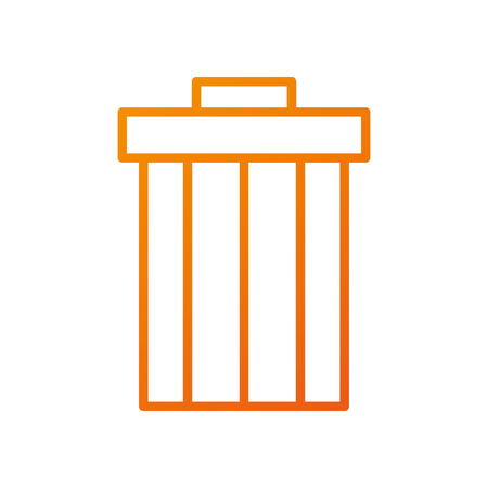 garbage trash can file contains objects web vector illustration Illustration