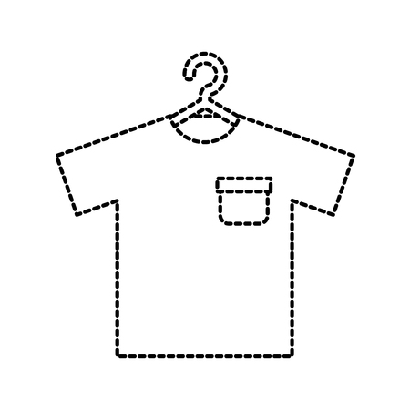 shirt hanging in the laundry clean vector illustration