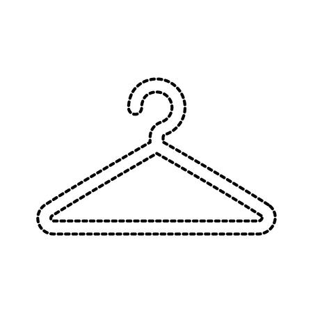 plastic kleerhanger wasserij gereedschap pictogram vectorillustratie