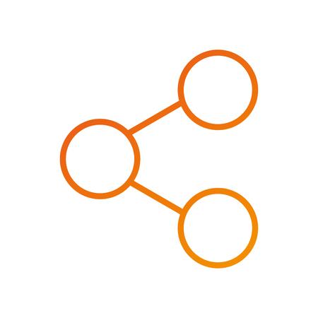 sharing information system internet app vector illustration