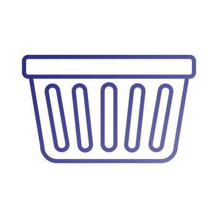 laundry basket plastic object equipment vector illustration