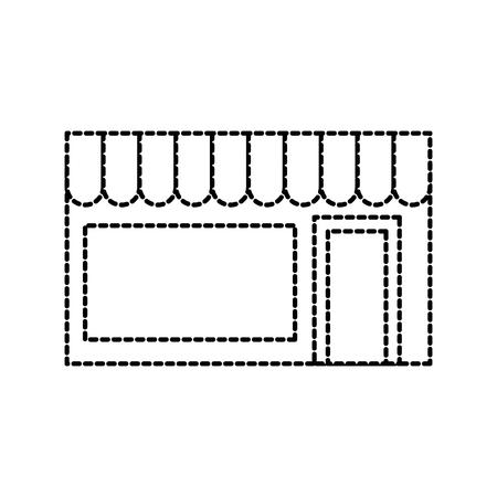 building exterior laundry facade commercial vector illustration