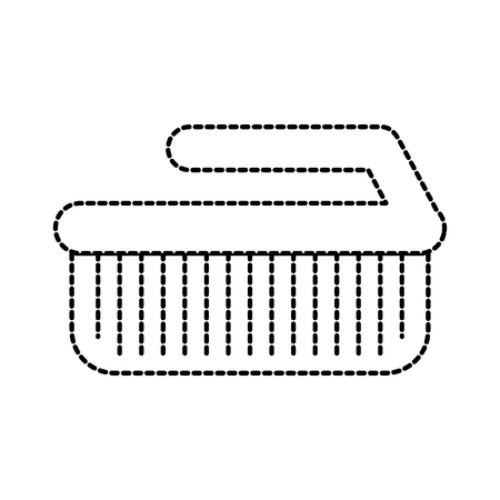 laundry brush cleaner domestic equipment isolated icon vector illustration