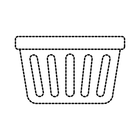 laundry basket plastic object equipment vector illustration