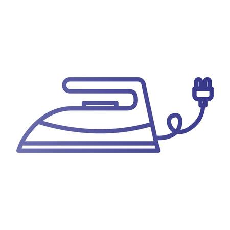 ランドリー サービス服電気ベクトル図の鉄アイコン