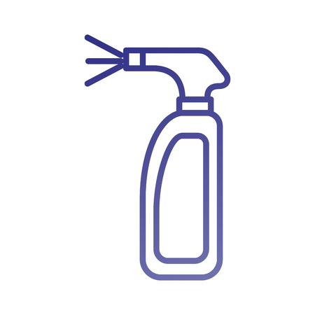 스프레이 병 세탁 살균 유체 벡터 일러스트 레이션을 청소