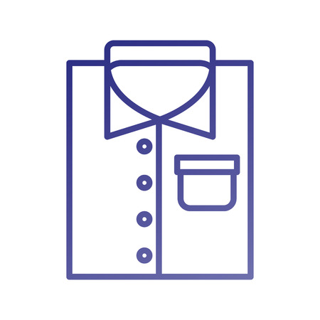 folded shirt icon in flat laundry cleaning vector illustration