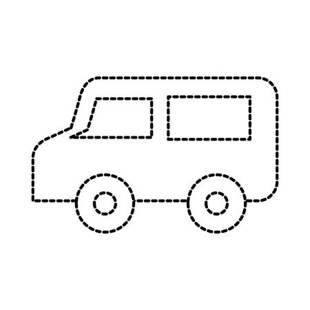 remote control van broadcast car communication vector illustration
