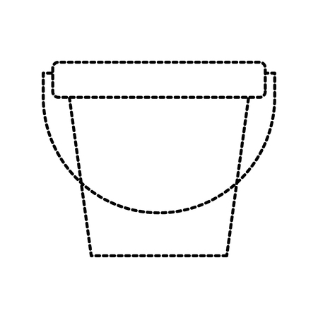 laundry bucket empty cleaning element maintanance vector illustration Иллюстрация