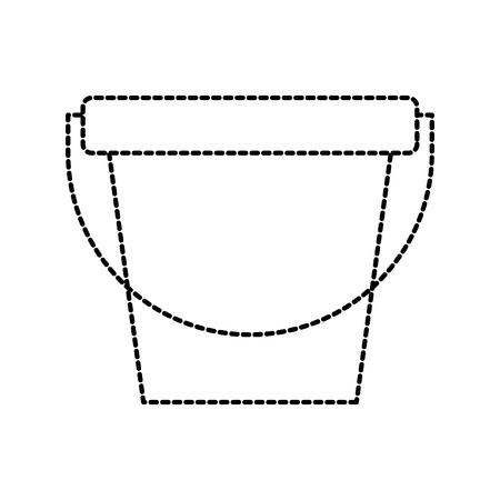 laundry bucket empty cleaning element maintanance vector illustration Illustration