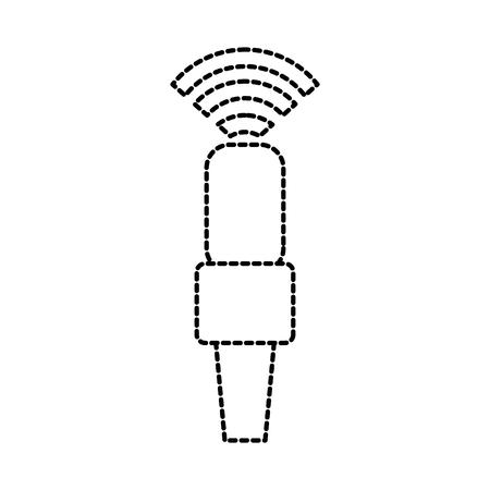 wifi マイク ポッド キャスト接続電気ベクトル図