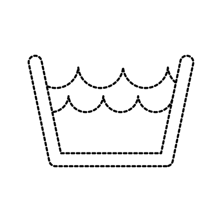 bekken met water was schone pictogram vectorillustratie Stock Illustratie