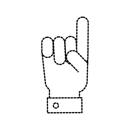 hand gesture with a raised index finger vector illustration