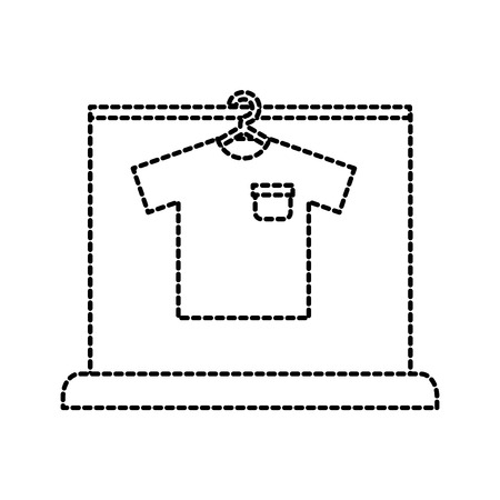 shirt hang laundry cleaning washing vector illustration