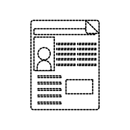 social network avatar website interface template vector illustration
