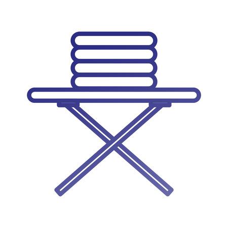 Wasserij strijkplank en kleding huishouding schoonmaakdienst vectorillustratie