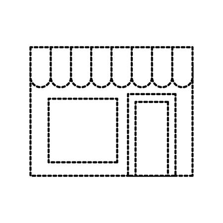 building exterior laundry facade commercial vector illustration Reklamní fotografie - 87730184