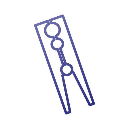 klassieke houten kleding peg Wasserij pictogram vectorillustratie Stock Illustratie