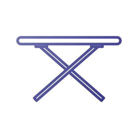 다림질 테이블. 세탁 서비스 템플릿 디자인 벡터 일러스트 레이션 일러스트