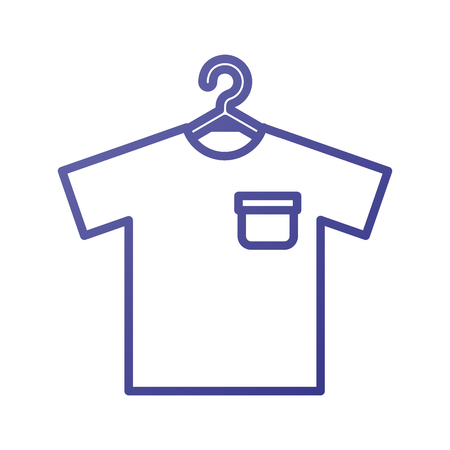 shirt hanging in the laundry clean vector illustration Zdjęcie Seryjne - 87733517