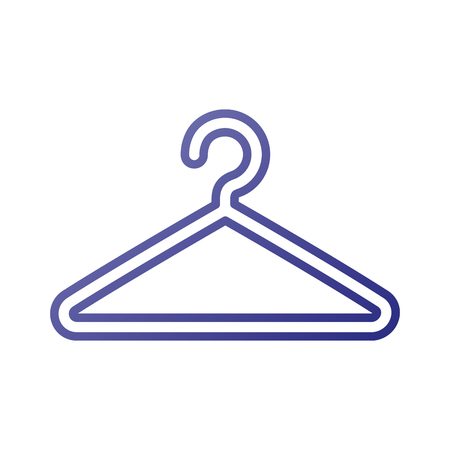 plastic clothes hanger laundry tool icon vector illustration