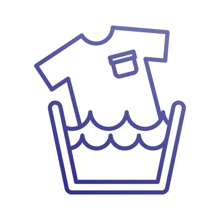 세탁 분지 비누 tshirt 물 깨끗한 벡터 일러스트 레이션