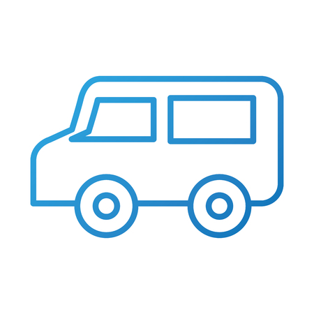 remote control van broadcast car communication vector illustration