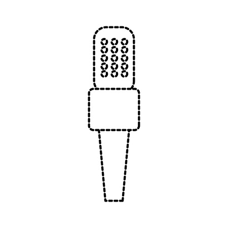 microphone icon voice recorder interview karaoke audio sign vector illustration