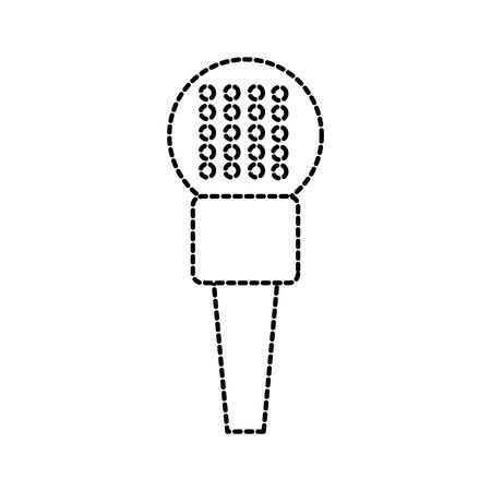 microfoon pictogram stem recorder interview karaoke audio teken vector illustratie