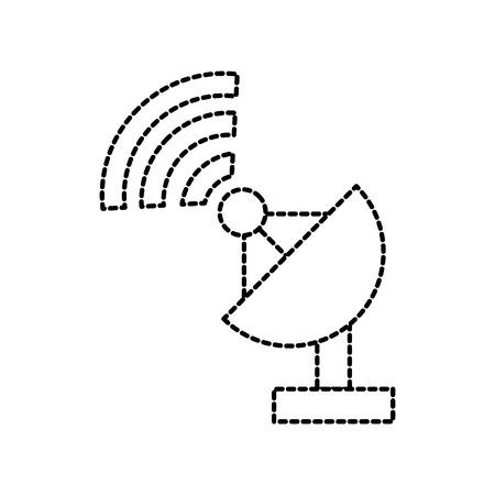 衛星アンテナ皿レーダー装置機器アイコン ベクトル図