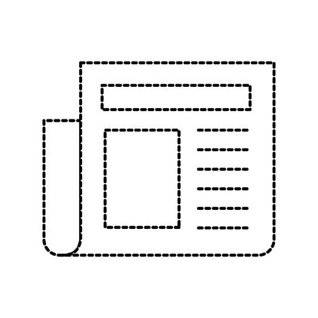 krantenartikel pagina dagelijks element pictogram vectorillustratie Stock Illustratie