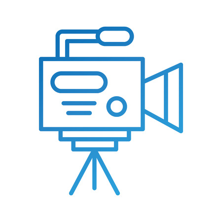 video camera icon professional camcorder with tripod vector illustration