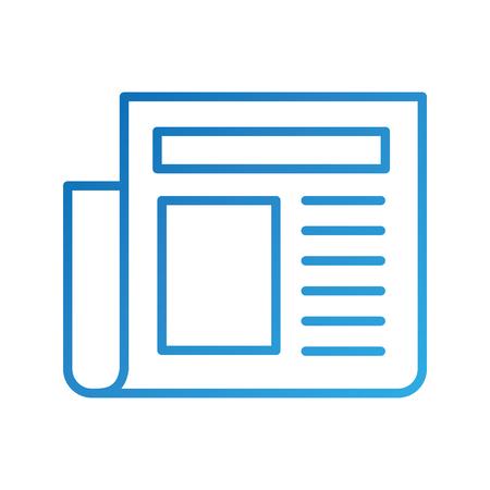 新聞記事のページ毎日要素アイコンのベクトル図  イラスト・ベクター素材