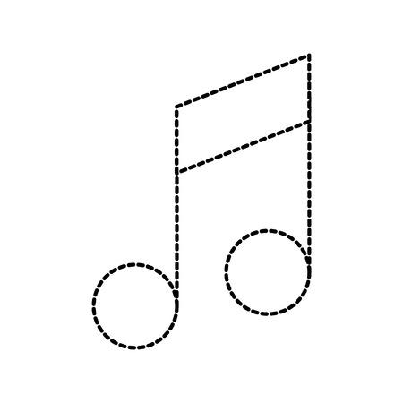 note music volume web application online vector illustration