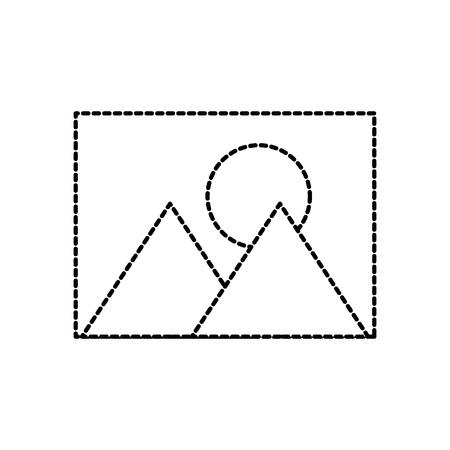 afbeelding afbeelding fotogalerij web app pictogram vectorillustratie