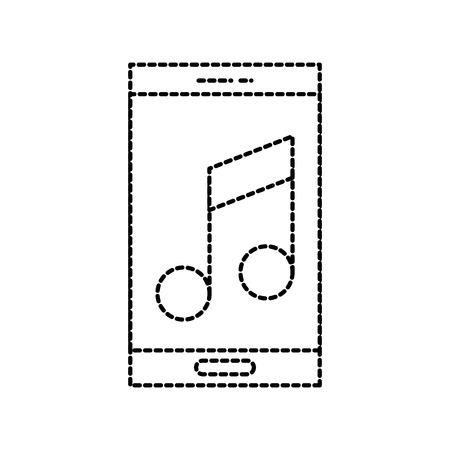 smartphone opmerking muziek volumelijst vectorillustratie Vector Illustratie